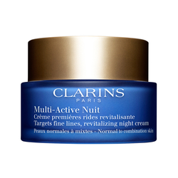 CLARINS - Clarins Multi Active Night Cream Normal to Combination Skin Normal/Karma Cilt için Gece Kremi 50 ML