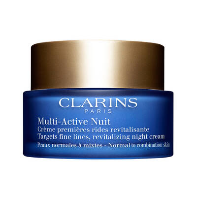 Clarins Multi Active Night Cream Normal to Combination Skin Normal/Karma Cilt için Gece Kremi 50 ML