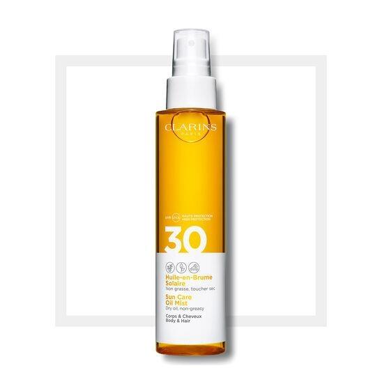 CLARINS Sun Care Body Oil-in-Mist SPF30 150ML - Yağ-Sprey Mist Kıvamında Vücut için Güneş Koruyucu